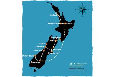 Lo mejor de NZ - 14 días en coche