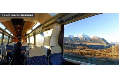 Interior del tren Tranzalpine