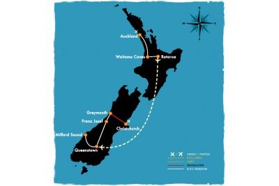 Íconos de NZ - 10 días en bus
