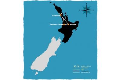 Auckland/Rotorua - 5 días en bus