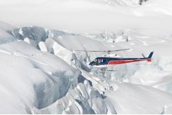 Helicóptero y caminata